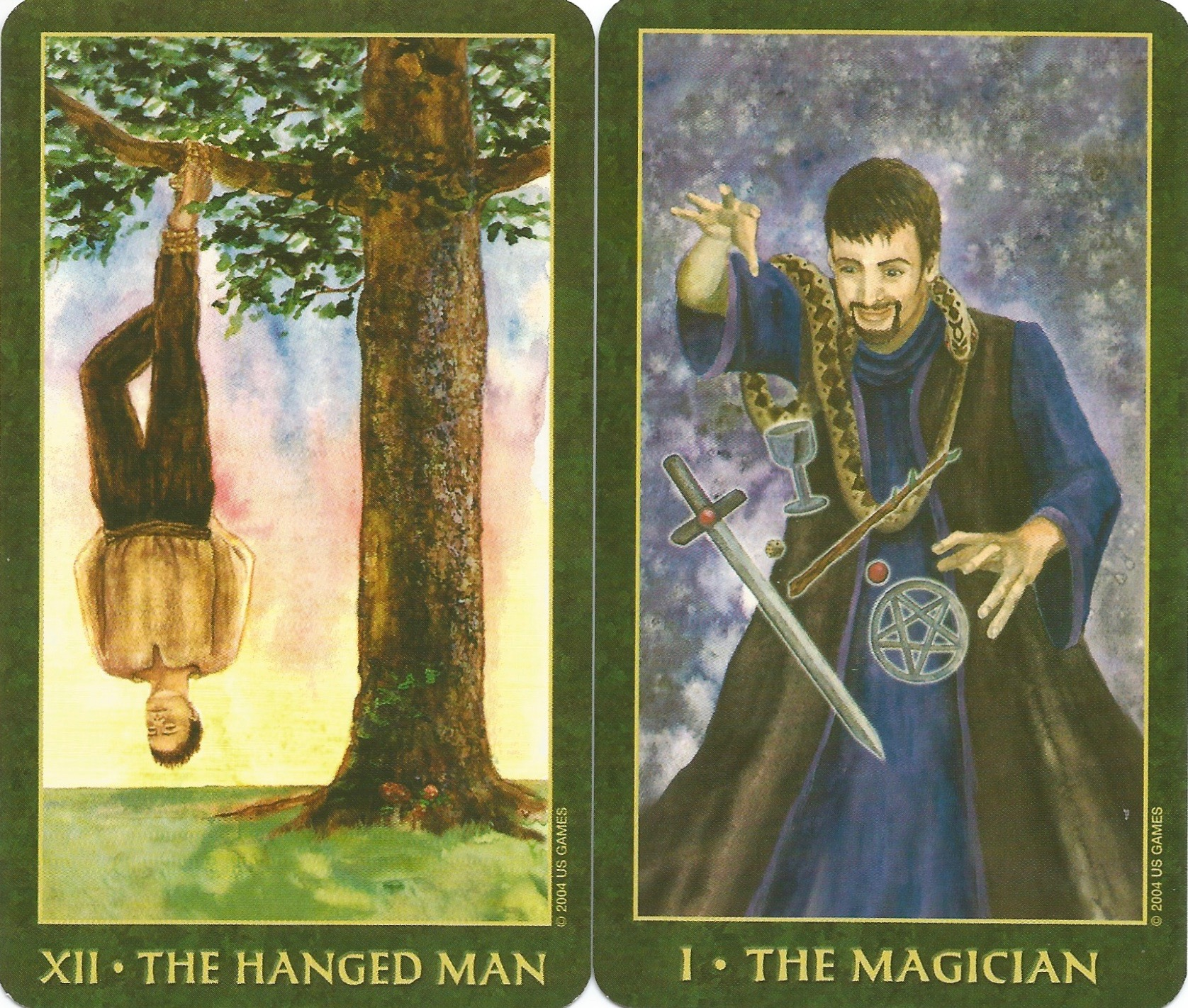 The Hanged Man and the Magician | Tarot ReflectionsAugust 2017